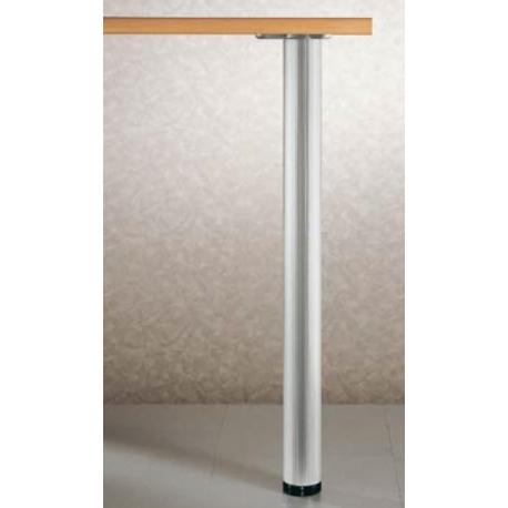 PIED ROND CHROME H87cm