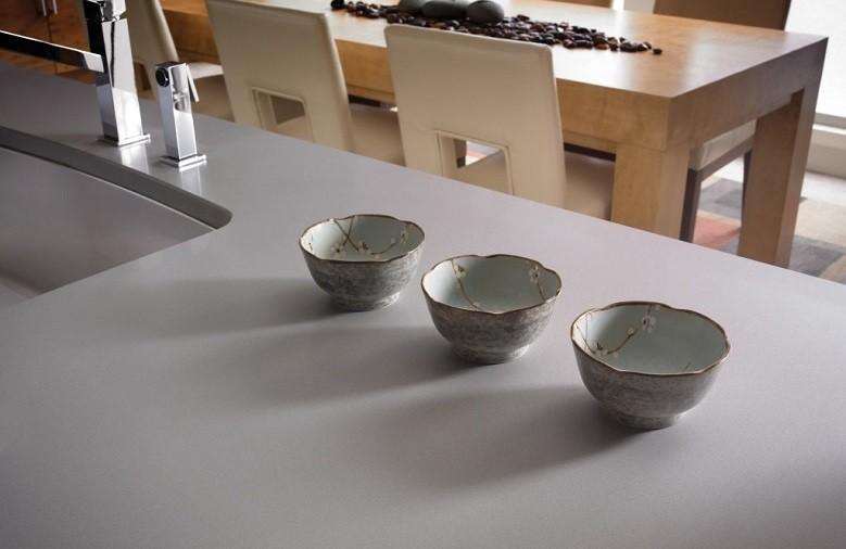 Plan de travail de cuisine en quartz Silestone Kensho